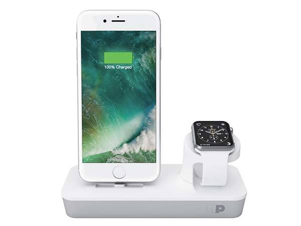 One Dock Dual iPhone and Apple Watch MFi Charging Station
