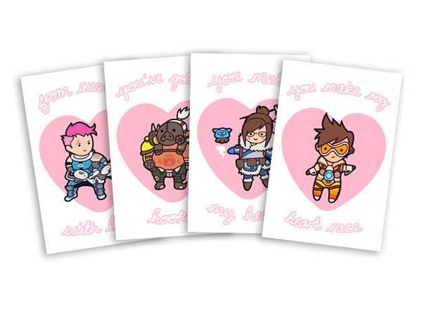 Overwatch Valentines Cards