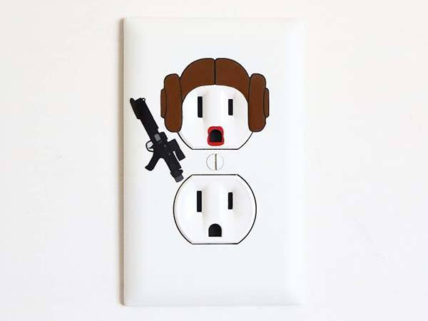 The Pop Culture Inspired Wall Outlet Art Stickers