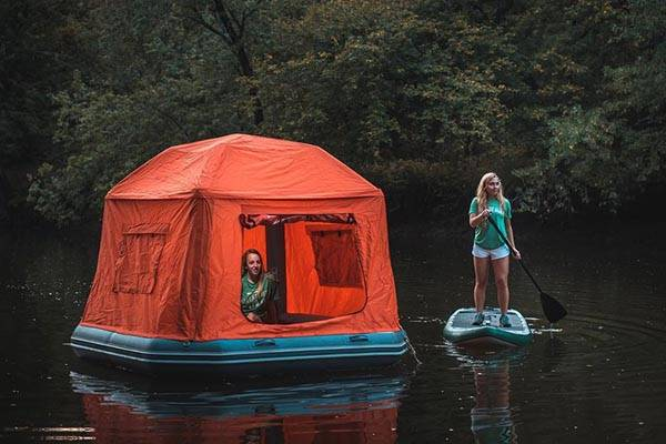 Shoal Floatable Tent Sets Your Camping On The Water