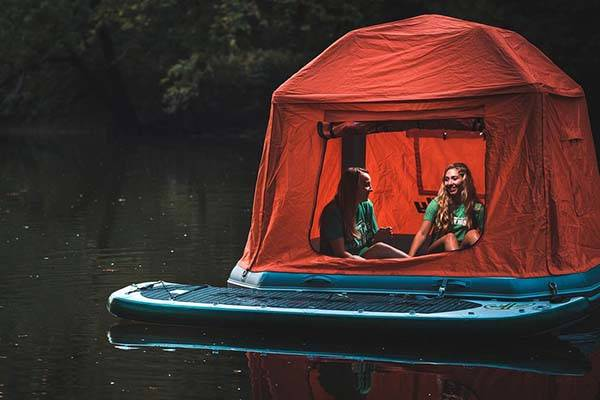 Shoal Floatable Tent Fits on the Water