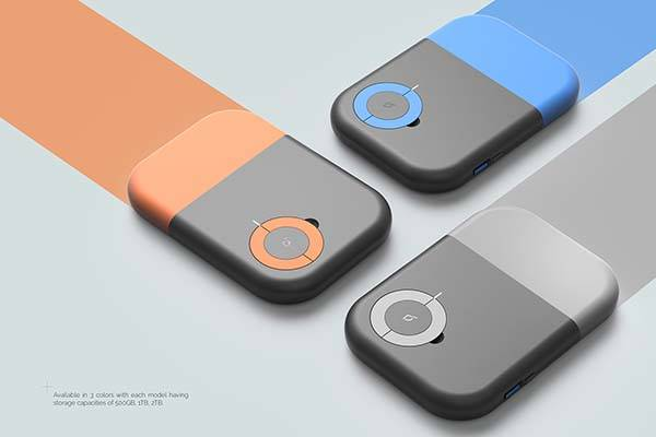 Datatape Concept Portable SSD Features a Retractable Cable