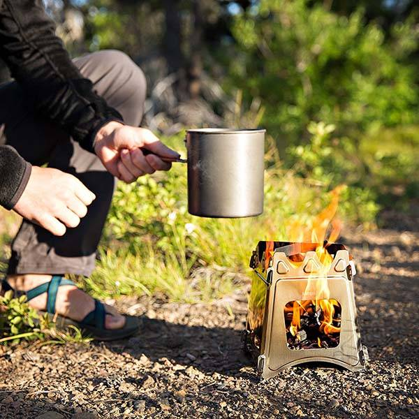 Woodflame Portable Wood Burning Camping Stove Gadgetsin