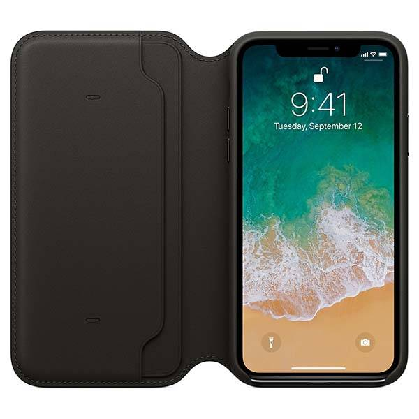 Apple iPhone X Leather Folio Case