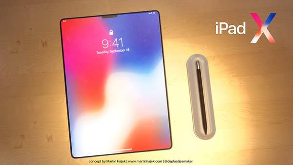 Concept iPad X Features a Combination of iPhone X and iPad Pro