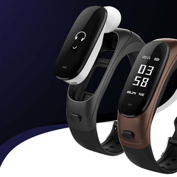 Earband V08 Smart Bracelet with Bluetooth Earphone