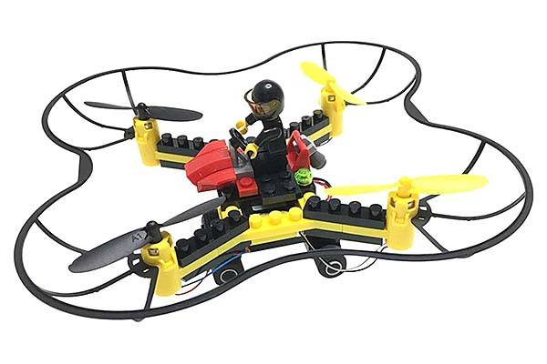 Force Flyers DIY Flying Drone Supports Various Building Blocks