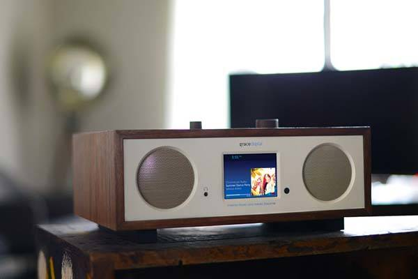 Grace Digital Encore Plus WiFi Bluetooth Speaker with Internet Radio and Chromecast