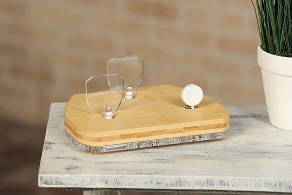 The Handmade Bamboo Charging Station for iPhone, Apple Watch and iPad