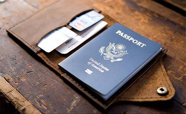Handmade Leather Personalized Passport Cover