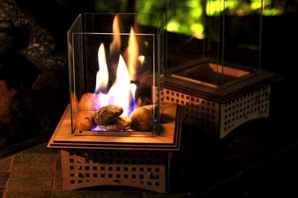 Handmade Tabletop Glass Fireplace