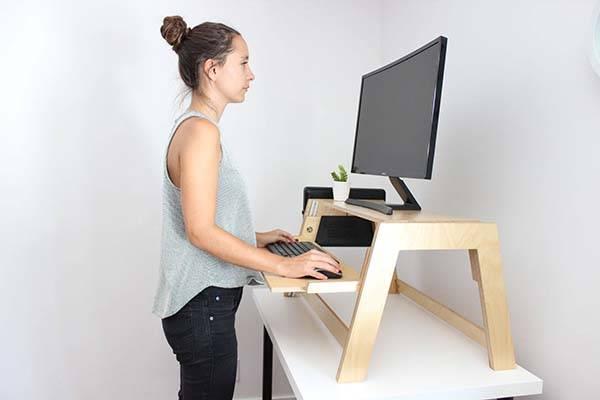 Level Handmade Wooden Standing Desk