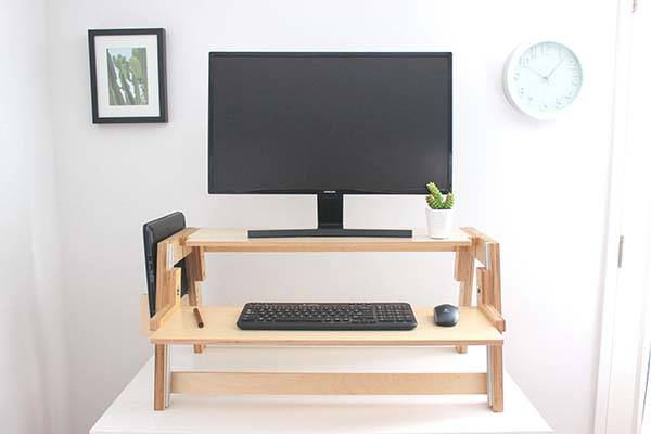 Level Handmade Wooden Standing Desk