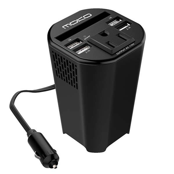The 150W Car Power Inverter with 4 USB Ports