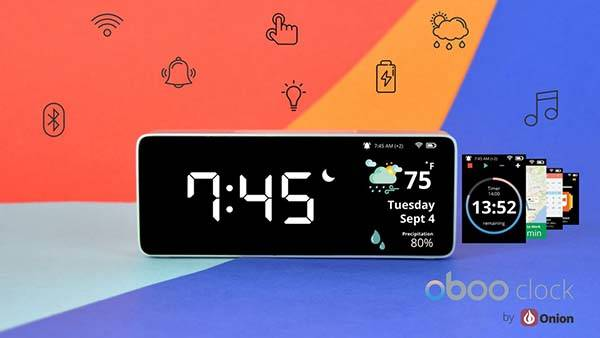 Oboo Smart Clock with Gesture Control, Bluetooth Speaker and More