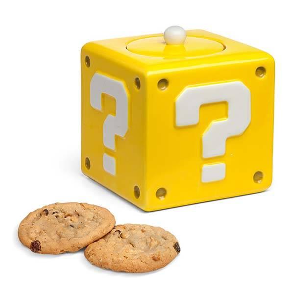 Super Mario Question Block Cookie Jar