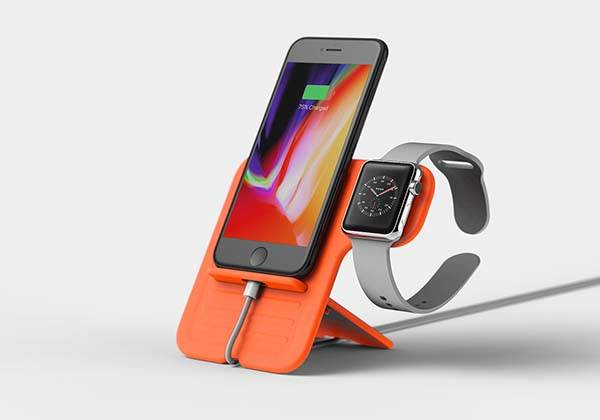 The Soft Rugged Series Docking Station for iPhone and Apple Watch