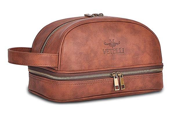 Vetelli Men S Leather Toiletry Bag Gadgetsin