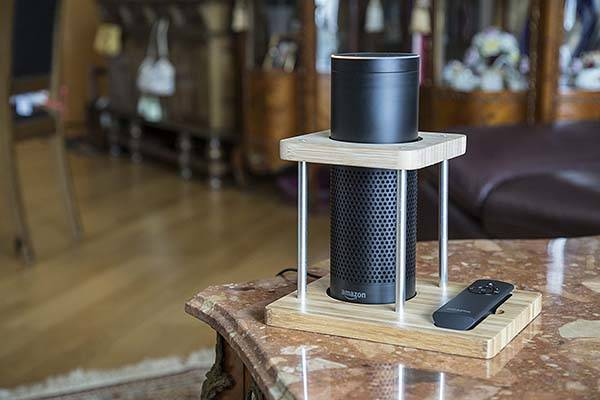The Bamboo Amazon Echo Stand