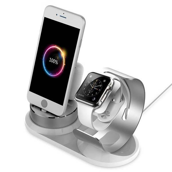 4-In-1 Aluminum Charging Dock for iPhone, Apple Watch, AirPods and Apple Pencil