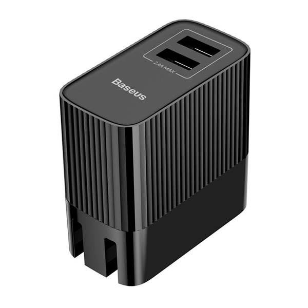 Baseus Transun Series Dual-U Foldable Wall Charger