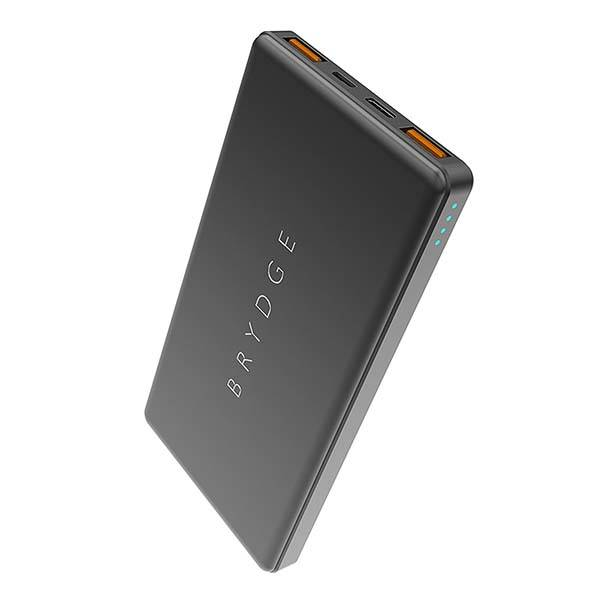 Brydge Portable Quick Charge Power Bank with USB-C and USB Ports