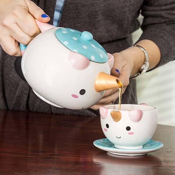 Elodie Unicorn Teapot Set