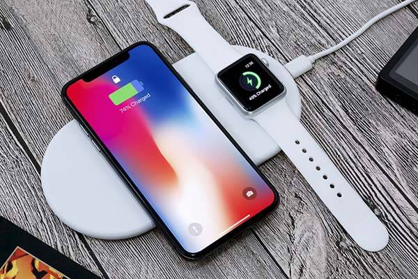 Funxim Qi Wireless Charging Pad with Apple Watch Holder