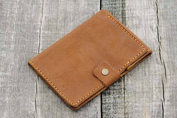 Handmade Custom Leather Passport Wallet