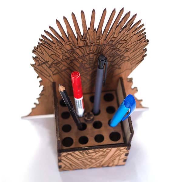 Handmade Game of Thrones Iron Throne Desk Organizer