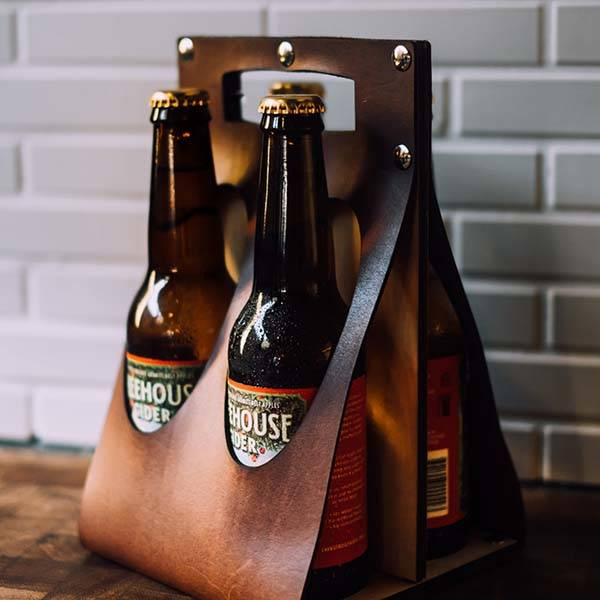 Handmade Leather Craft Beer Carrier