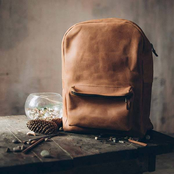 Handmade Vintage Leather Backpack