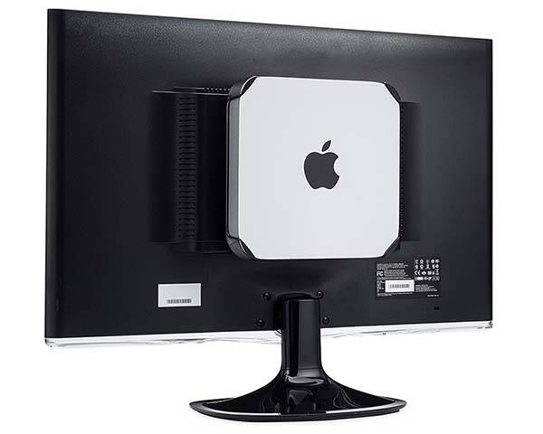 The Mac Mini Mount Fits On The Wall Under The Desk And
