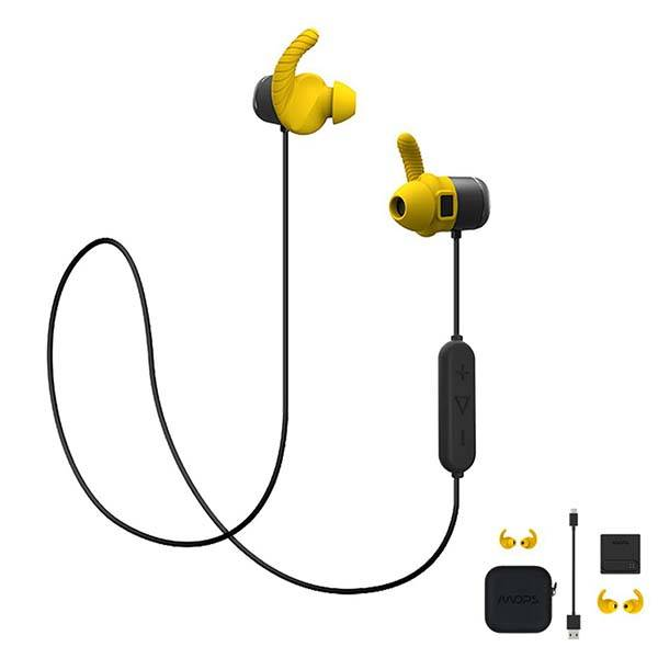 MOPS Wireless Sport Earbuds with Fitness Tracker, Heart Rate Monitor and 8GB Memory