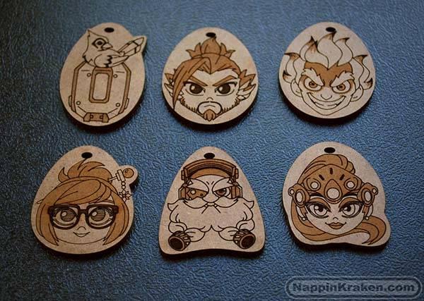 Overwatch Chibi Hero Character Wooden Keychains Gadgetsin
