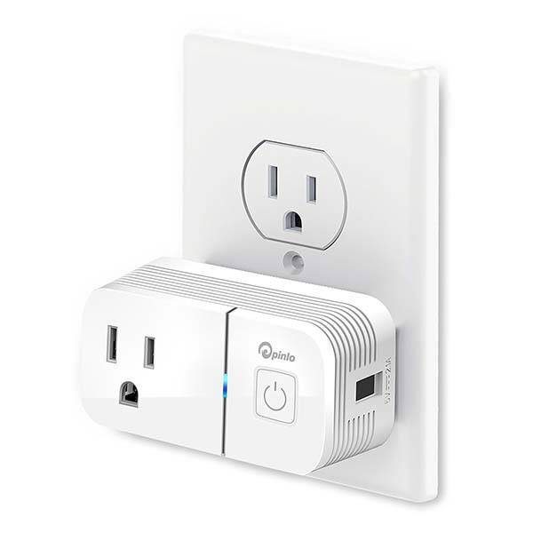 Pinlo Smart Plug with USB Port Supports Amazon Alexa and Google Assistant
