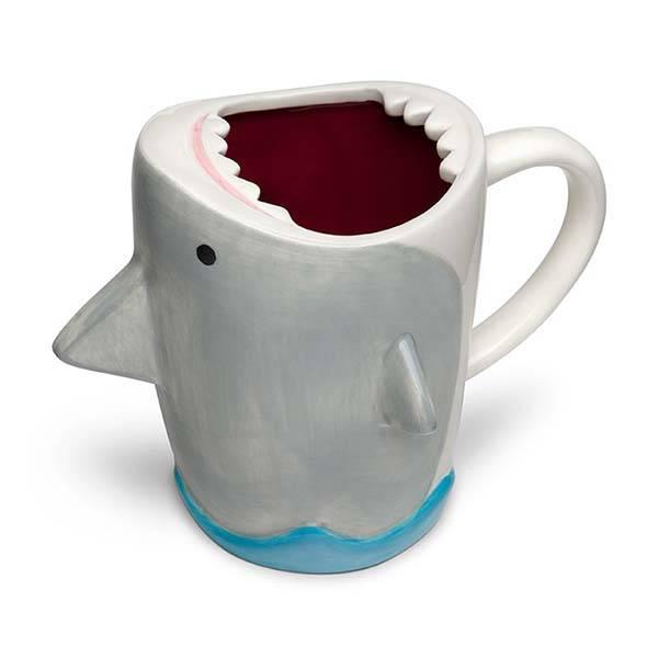 Shark Attach Ceramic Coffee Mug