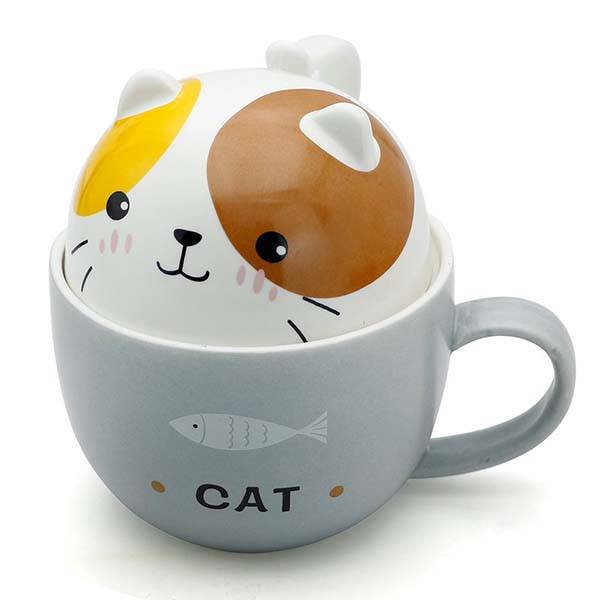 Teagas Cute Funny Animal Ceramic Tea Cup