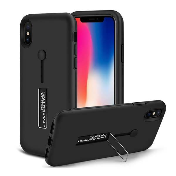 The Dual-Layer iPhone X Case with Stand and Hand Loop