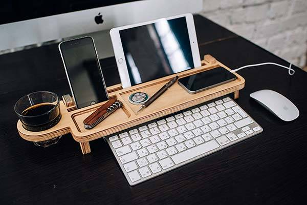 Handmade Wooden Customizable Desk Organizer