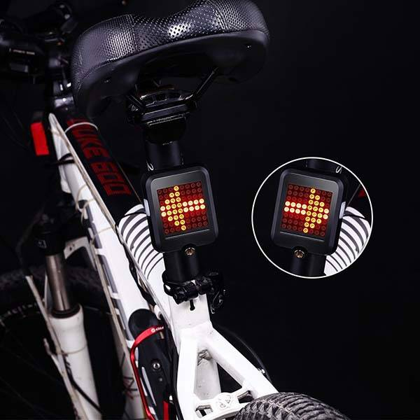 The LED Bike Tail Light with Intelligent Brake and Turn Signals
