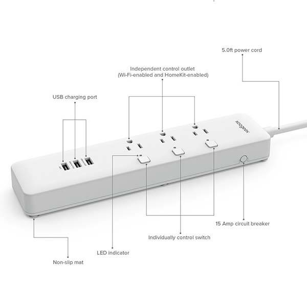 Smart Surge Protector Supports Apple HomeKit