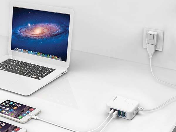 The USB Wall Charger with Removable Plugs