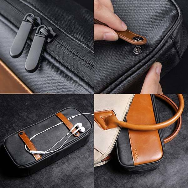 The Leather Accessory Storage Bag