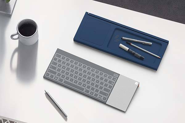 The Microsoft All-In-One Keyboard with Wireless Charging Pad and Tablet Stand