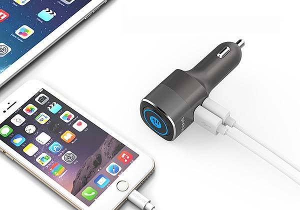 The Dual USB Car Charger with Removable Bluetooth Audio Receiver