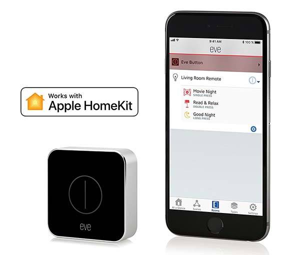 elgato eve button smart home remote with apple homekit gadgetsin. Black Bedroom Furniture Sets. Home Design Ideas