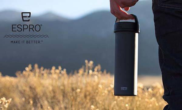Espro Hydration Bottle with Coffee Press