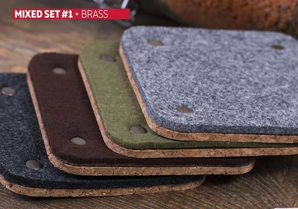 Handmade Felt Coasters with Three Optional Shapes