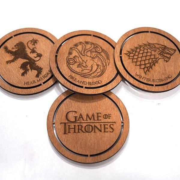 Handmade Game of Thrones Drink Coasters
